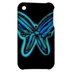 Blue butterfly Apple iPhone 3G/3GS Hardshell Case