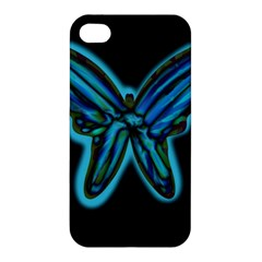 Blue butterfly Apple iPhone 4/4S Hardshell Case