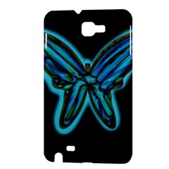 Blue butterfly Samsung Galaxy Note 1 Hardshell Case