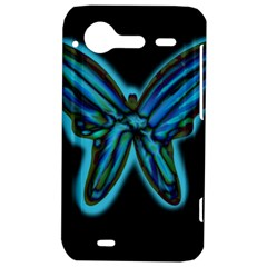 Blue butterfly HTC Incredible S Hardshell Case