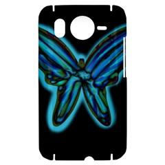 Blue butterfly HTC Desire HD Hardshell Case