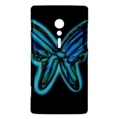 Blue butterfly Sony Xperia ion
