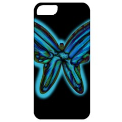Blue butterfly Apple iPhone 5 Classic Hardshell Case