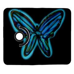 Blue butterfly Samsung Galaxy Note II Flip 360 Case