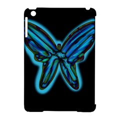 Blue butterfly Apple iPad Mini Hardshell Case (Compatible with Smart Cover)
