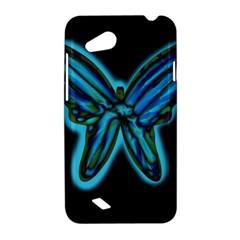 Blue butterfly HTC Desire VC (T328D) Hardshell Case