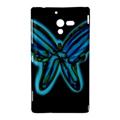 Blue butterfly Sony Xperia ZL (L35H)