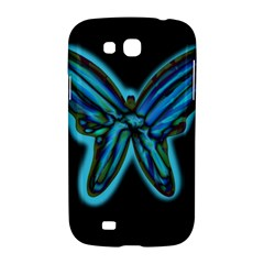Blue butterfly Samsung Galaxy Grand GT-I9128 Hardshell Case