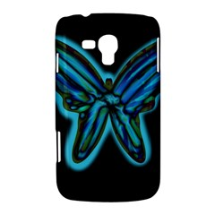 Blue butterfly Samsung Galaxy Duos I8262 Hardshell Case