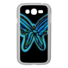 Blue butterfly Samsung Galaxy Grand DUOS I9082 Case (White)