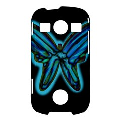 Blue butterfly Samsung Galaxy S7710 Xcover 2 Hardshell Case
