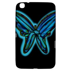 Blue butterfly Samsung Galaxy Tab 3 (8 ) T3100 Hardshell Case