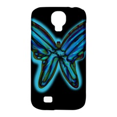 Blue butterfly Samsung Galaxy S4 Classic Hardshell Case (PC+Silicone)