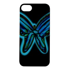 Blue butterfly Apple iPhone 5S/ SE Hardshell Case