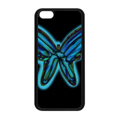 Blue butterfly Apple iPhone 5C Seamless Case (Black)