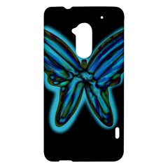Blue butterfly HTC One Max (T6) Hardshell Case