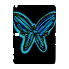 Blue butterfly Samsung Galaxy Note 10.1 (P600) Hardshell Case