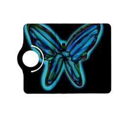 Blue butterfly Kindle Fire HD (2013) Flip 360 Case