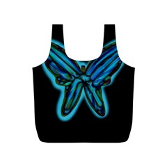 Blue butterfly Full Print Recycle Bags (S)