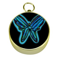 Blue butterfly Gold Compasses