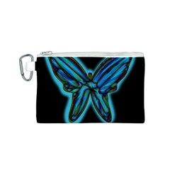 Blue butterfly Canvas Cosmetic Bag (S)
