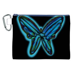 Blue butterfly Canvas Cosmetic Bag (XXL)
