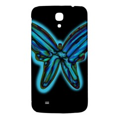Blue butterfly Samsung Galaxy Mega I9200 Hardshell Back Case
