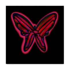 Red butterfly Tile Coasters