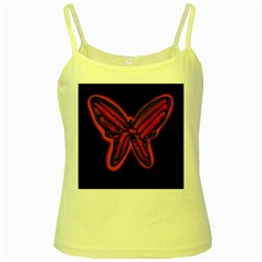 Red butterfly Yellow Spaghetti Tank