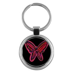 Red butterfly Key Chains (Round)