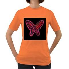 Red butterfly Women s Dark T-Shirt