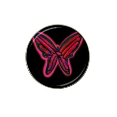 Red butterfly Hat Clip Ball Marker