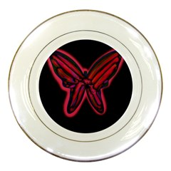 Red butterfly Porcelain Plates