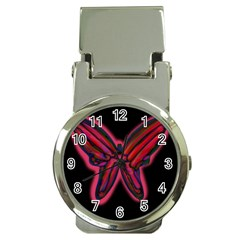 Red butterfly Money Clip Watches