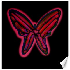 Red butterfly Canvas 16  x 16