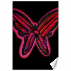 Red Butterfly Canvas 24  X 36