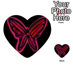 Red butterfly Multi-purpose Cards (Heart)