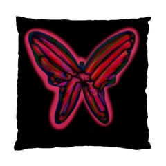 Red butterfly Standard Cushion Case (One Side)