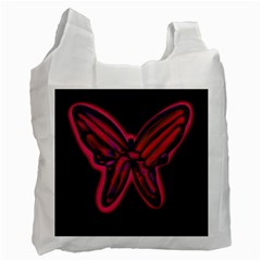 Red butterfly Recycle Bag (Two Side)