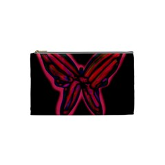 Red butterfly Cosmetic Bag (Small)