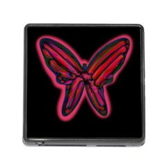 Red butterfly Memory Card Reader (Square)