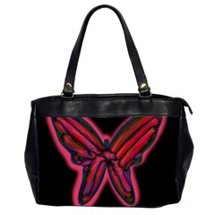 Red butterfly Office Handbags (2 Sides)