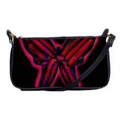 Red butterfly Shoulder Clutch Bags
