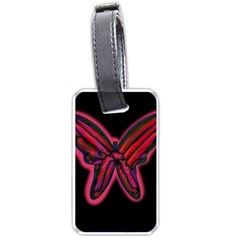 Red butterfly Luggage Tags (Two Sides)