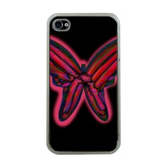 Red butterfly Apple iPhone 4 Case (Clear)