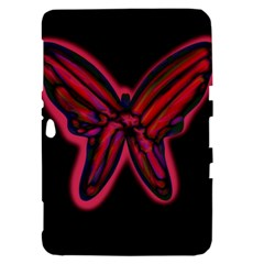 Red butterfly Samsung Galaxy Tab 8.9  P7300 Hardshell Case