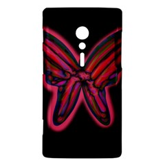 Red butterfly Sony Xperia ion