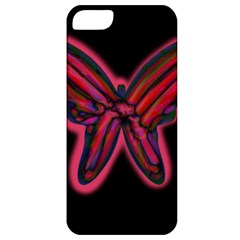 Red butterfly Apple iPhone 5 Classic Hardshell Case
