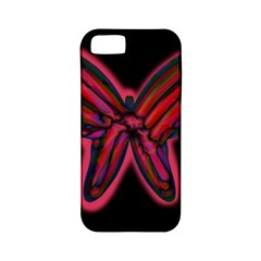 Red butterfly Apple iPhone 5 Classic Hardshell Case (PC+Silicone)
