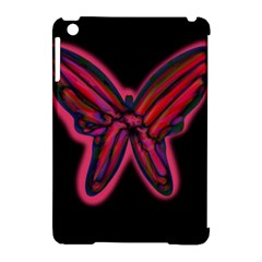 Red butterfly Apple iPad Mini Hardshell Case (Compatible with Smart Cover)